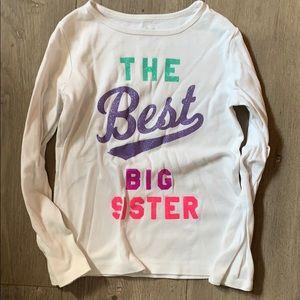 Carter's 6x glitter best big sister tee